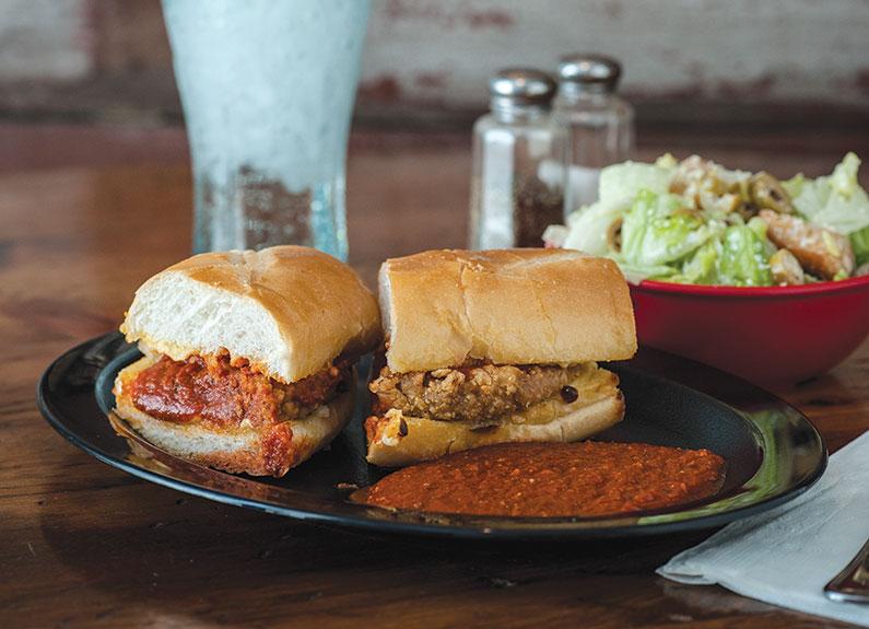 veal parmigiana sandwich at Grassi's Ristorante & Deli in St. Louis