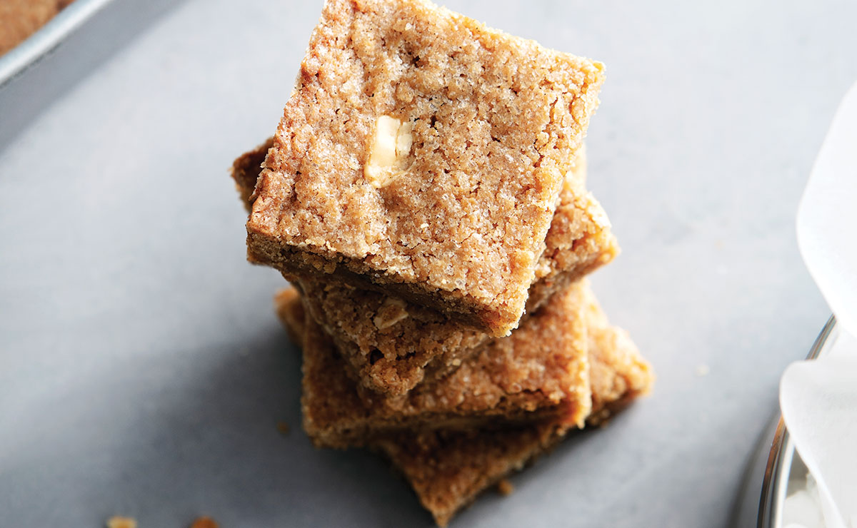 gingerbread blondies