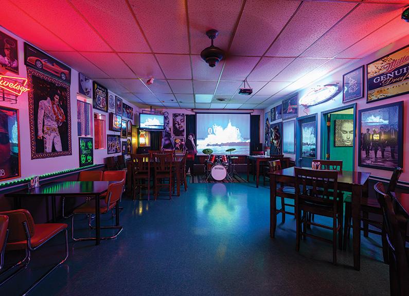 a karaoke lounge