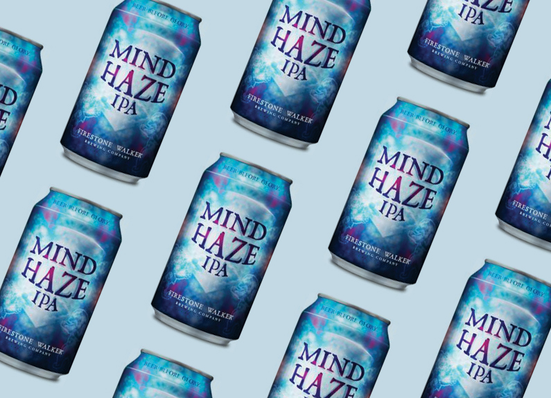 cans of firestone walker mind haze
