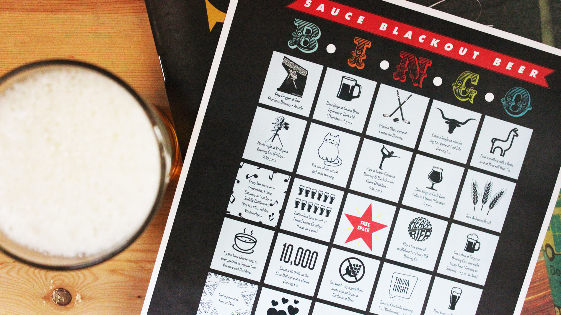 Play Sauce Blackout Beer Bingo in March and win tickets to Lupulin Carnival