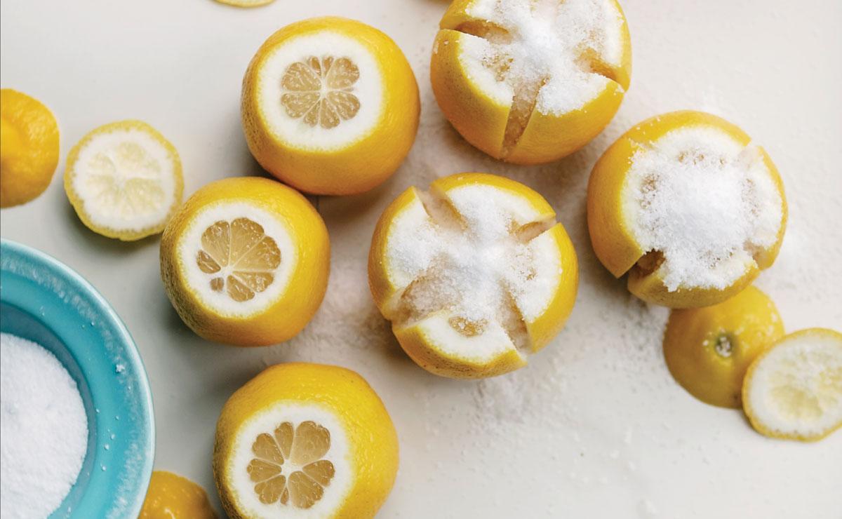 lemons with salt