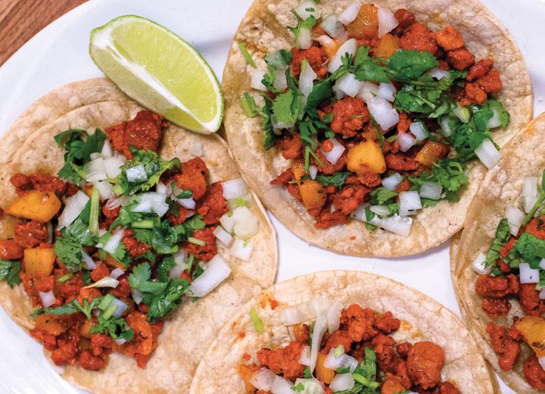 al pastor tacos from La Tejana Taqueria in bridgeton