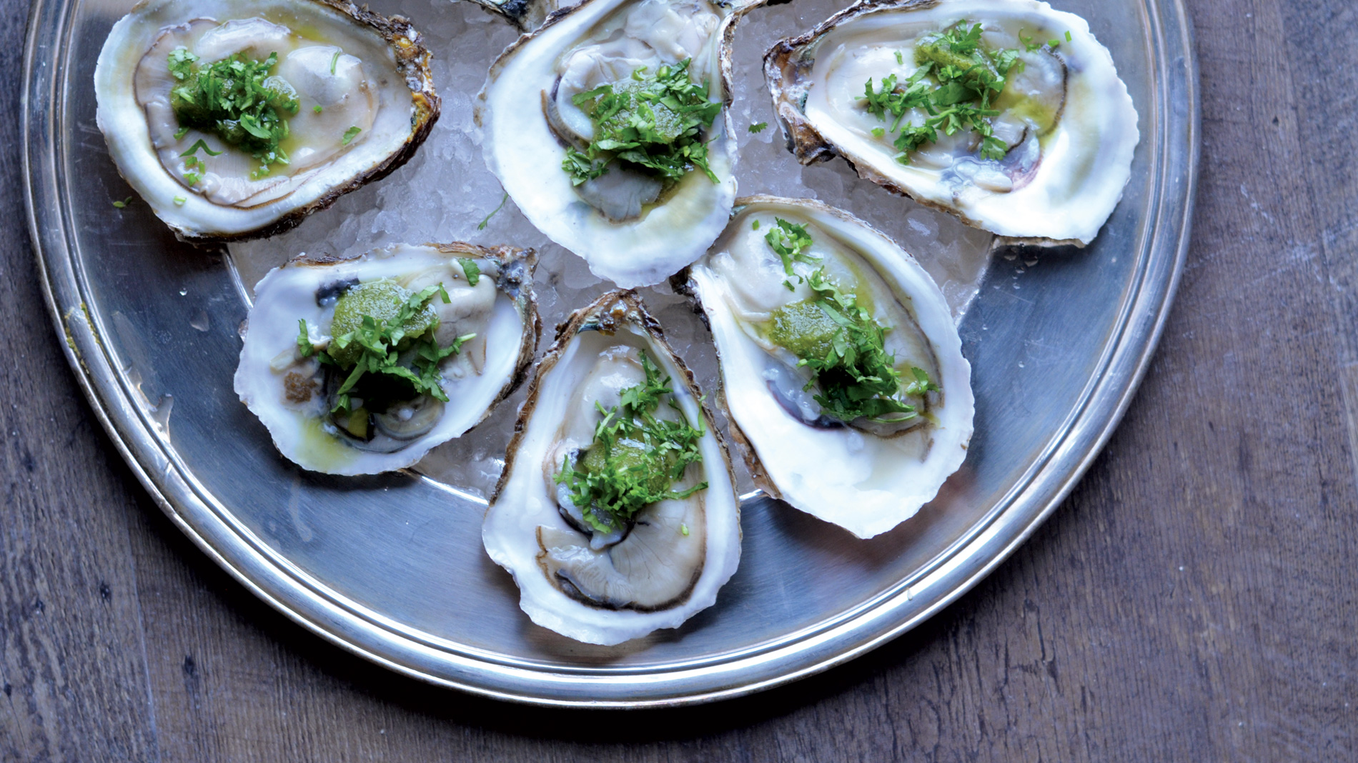 oysters at público in the loop