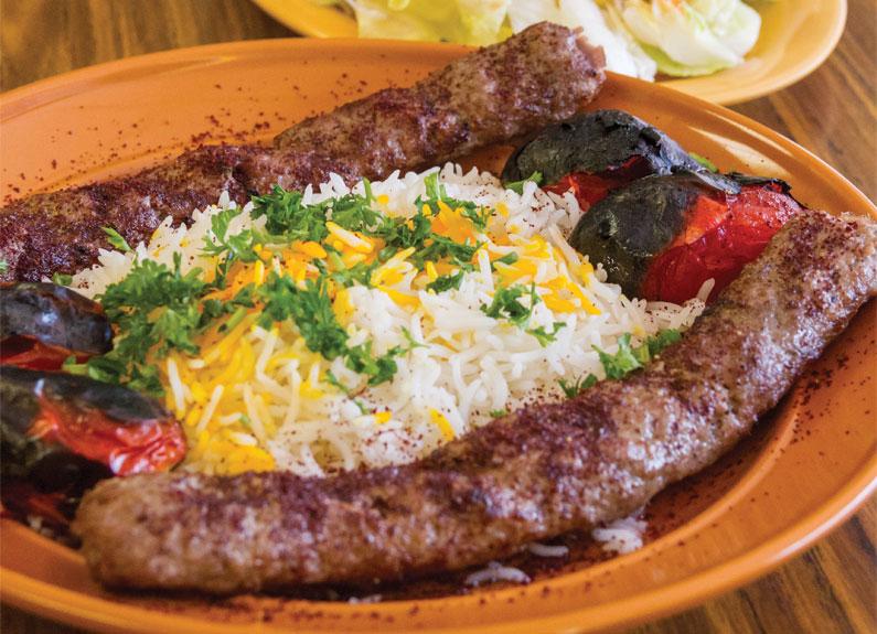 barg and koodibeh at royal kebab restaurant in st. louis