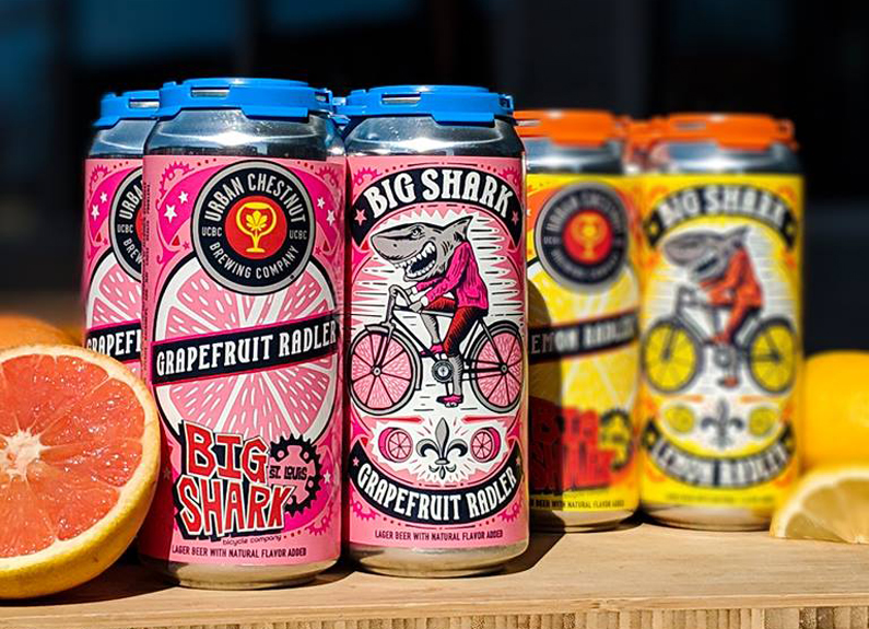 cans of urban chestnut radlers