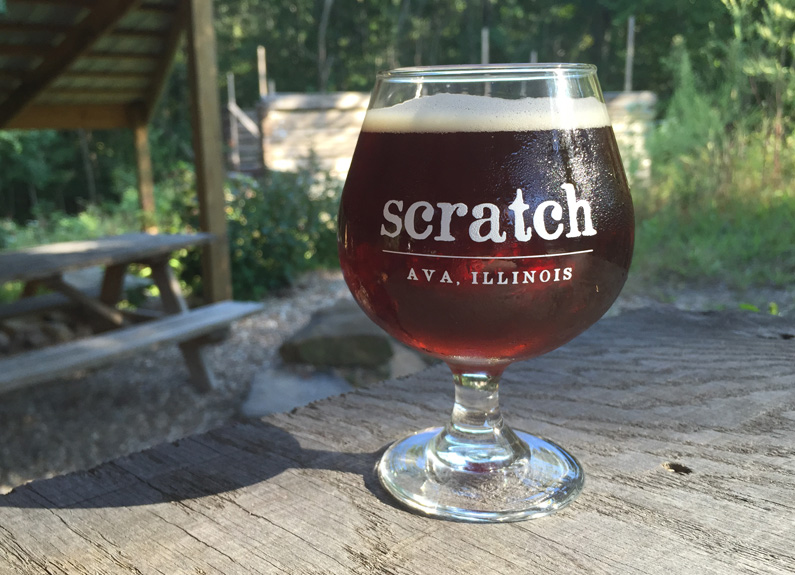 scratch brewery's Brett Old Ale in ava, illinois