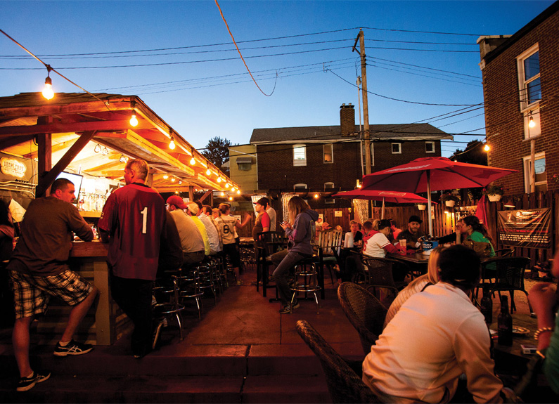 the patio at southtown pub