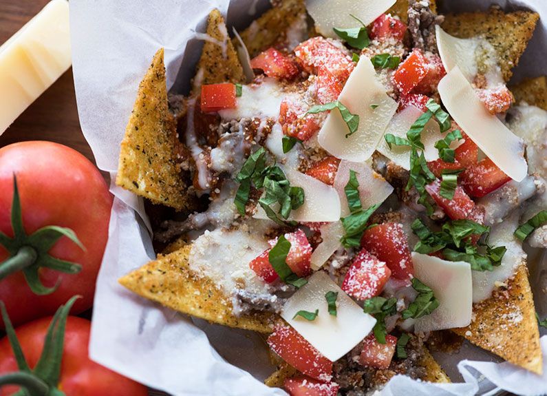 toasted ravioli nachos at loaded in st. louis