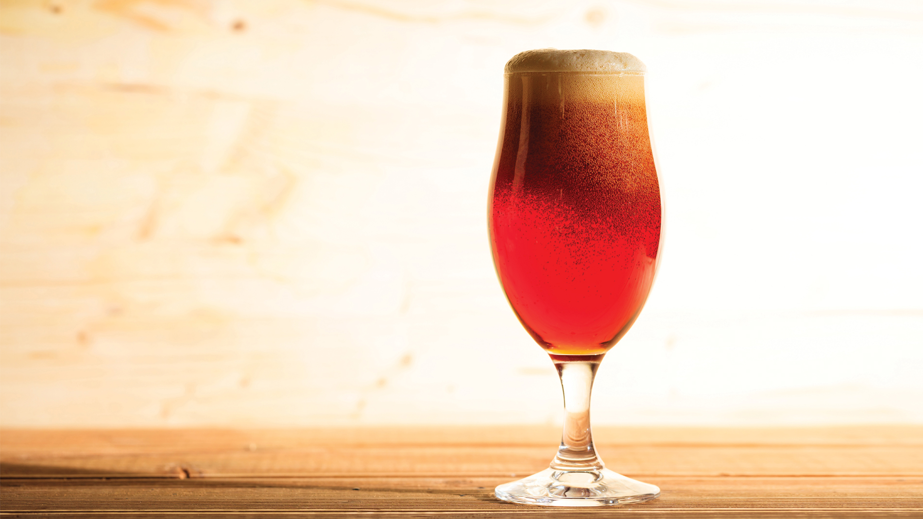a large glass of beer
