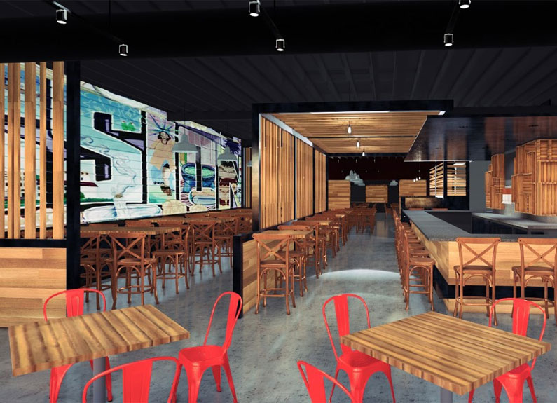 mission taco joint krikwood rendering from space architecture + design