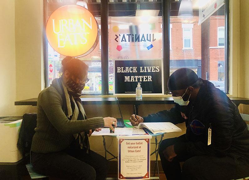 free ballot notary services at urban eats