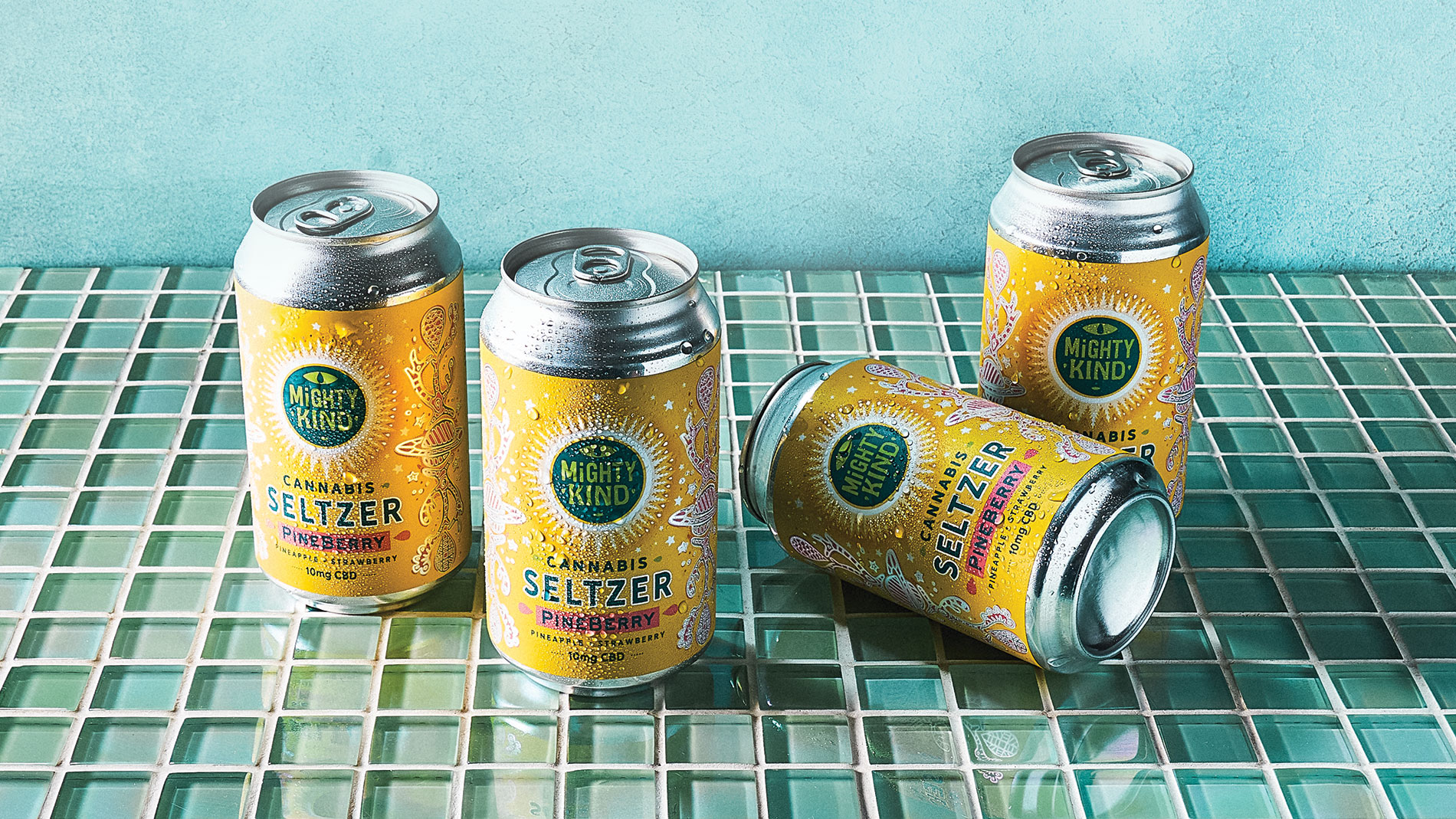 Mighty Kind Cannabis Pineberry Seltzer