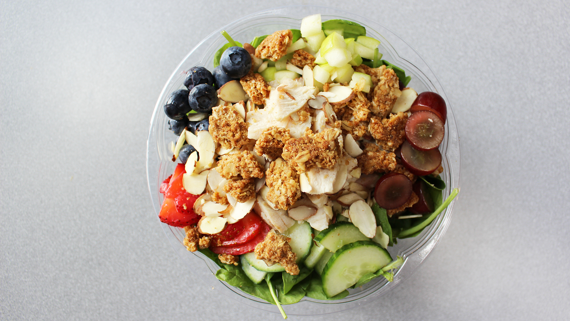 honey apple spinach salad from ukraft