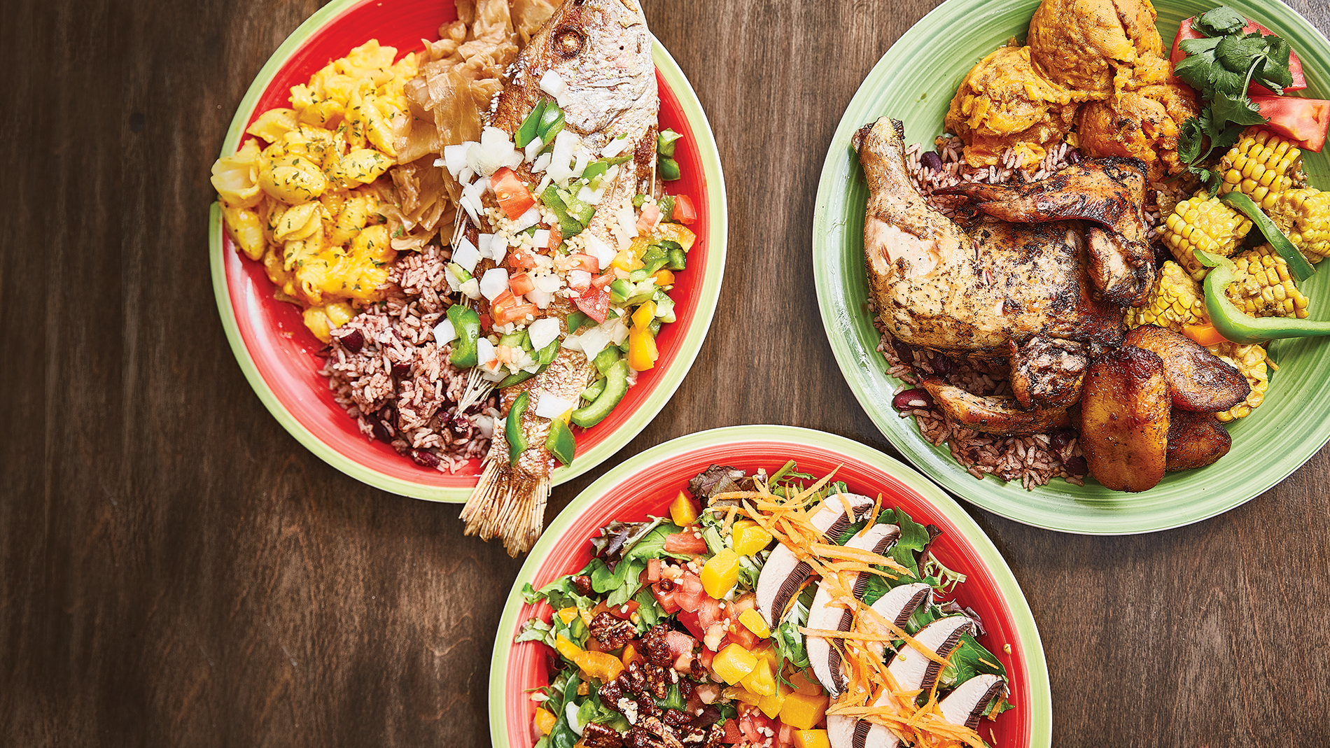 dishes at jerk soul in st. louis