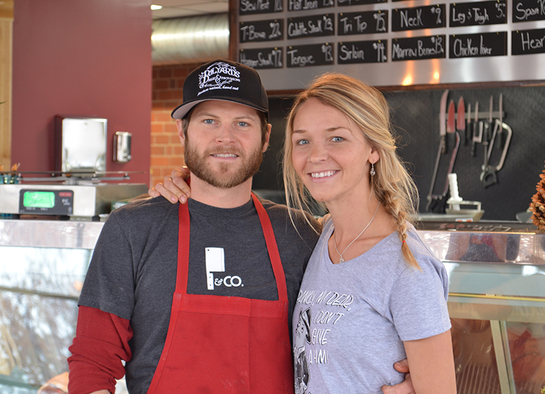 husband-and-wife co-owners of bolyard's meat & provisions, chris and abbie bolyard