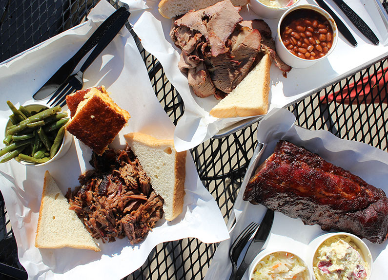 a selection of dishes from pappy's smokehouse