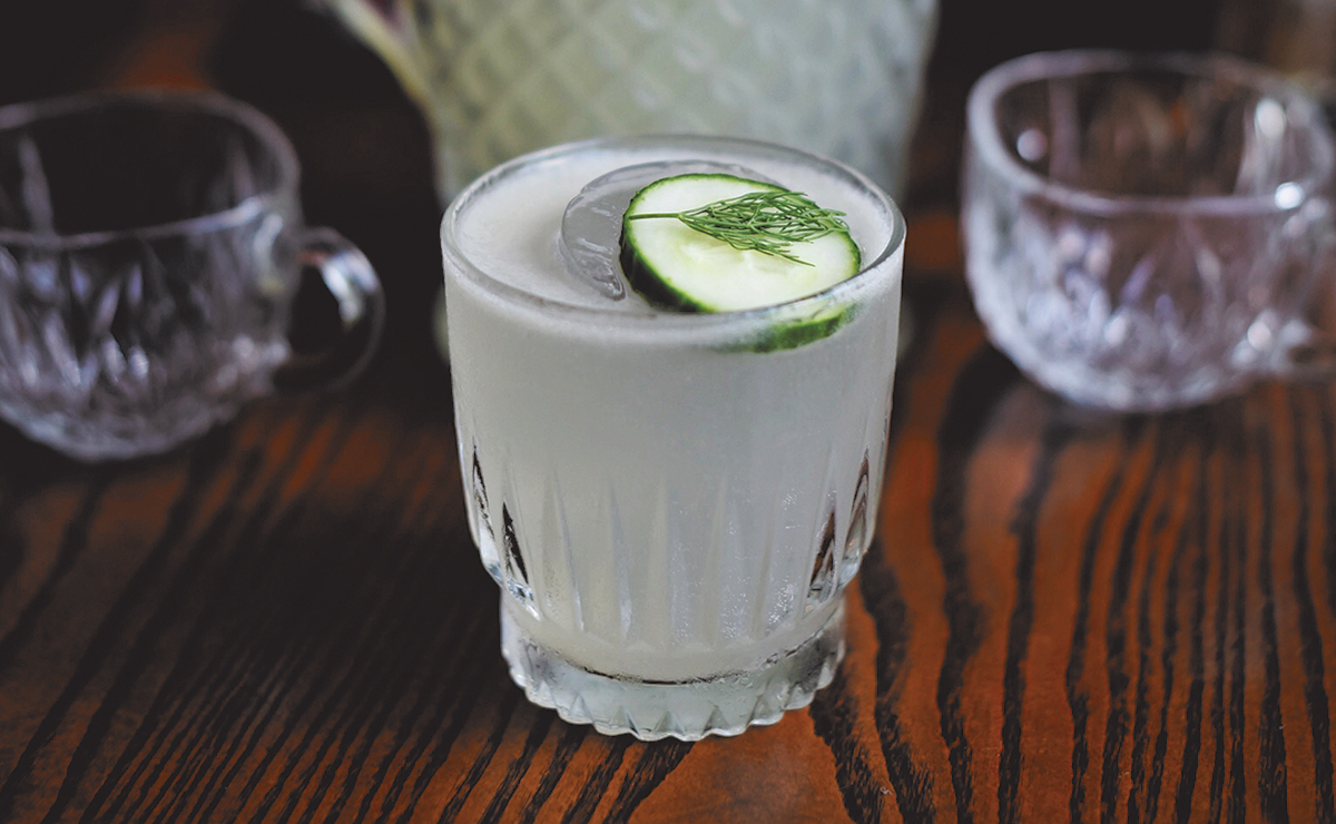 in a pickle cocktail from planter's house