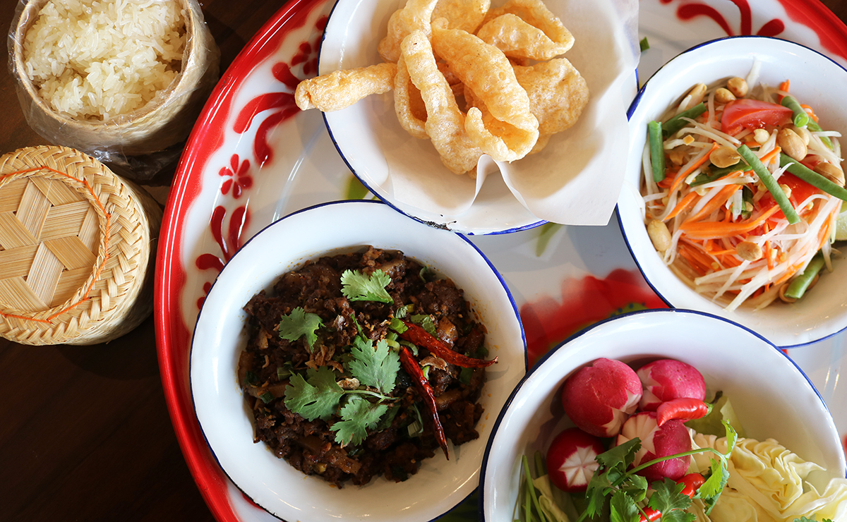 thai dishes at at chiang mai in webster groves