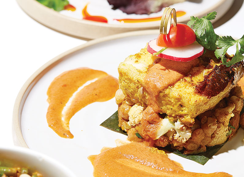 chargrilled masala halibut from turmeric in the loop
