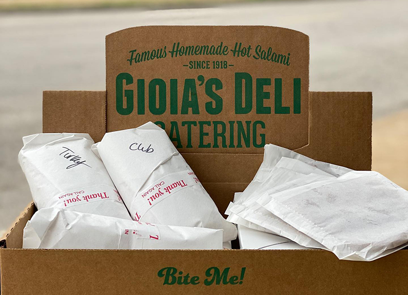 Gioia's Deli in St. Louis, Missouri, remains operational during the coronavirus outbreak.