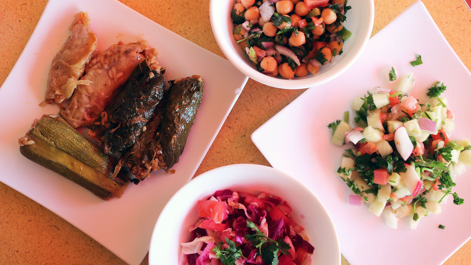 middle eastern dishes at sabzi