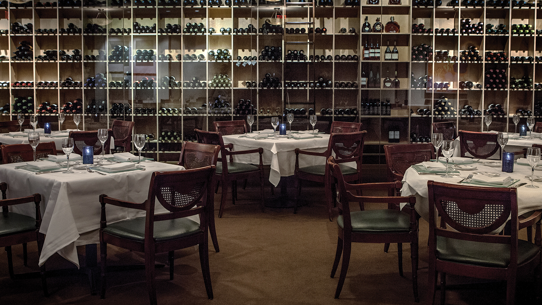 the dining room at Tony's in downtown St. Louis, Missouri