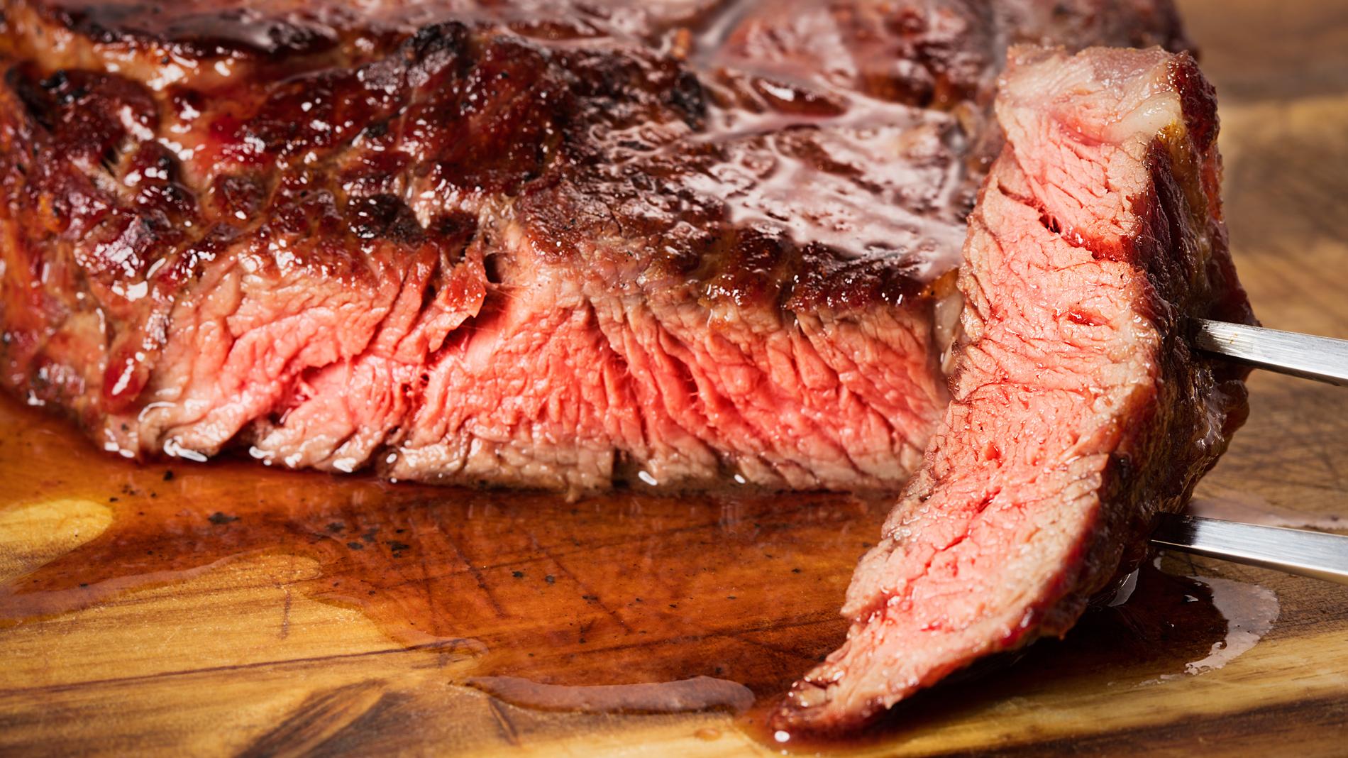 a rib-eye steak