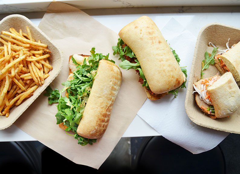 a selection of dishes from zenwich in the central west end in St. Louis, Missouri