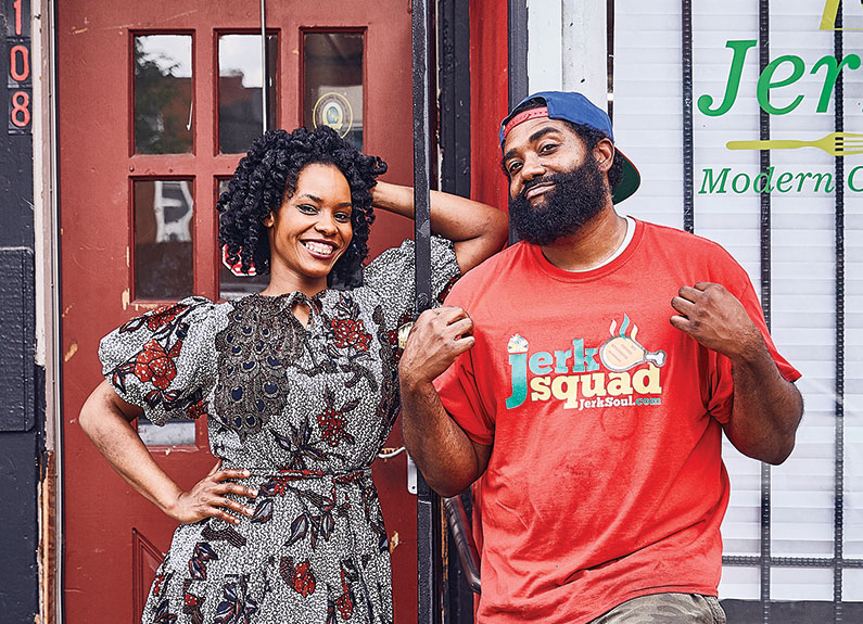 owners zahra spencer and telie woods of jerk soul in st. louis