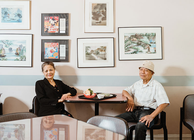 lynn and thomas truong, owners of banh mi so 1 on south grand