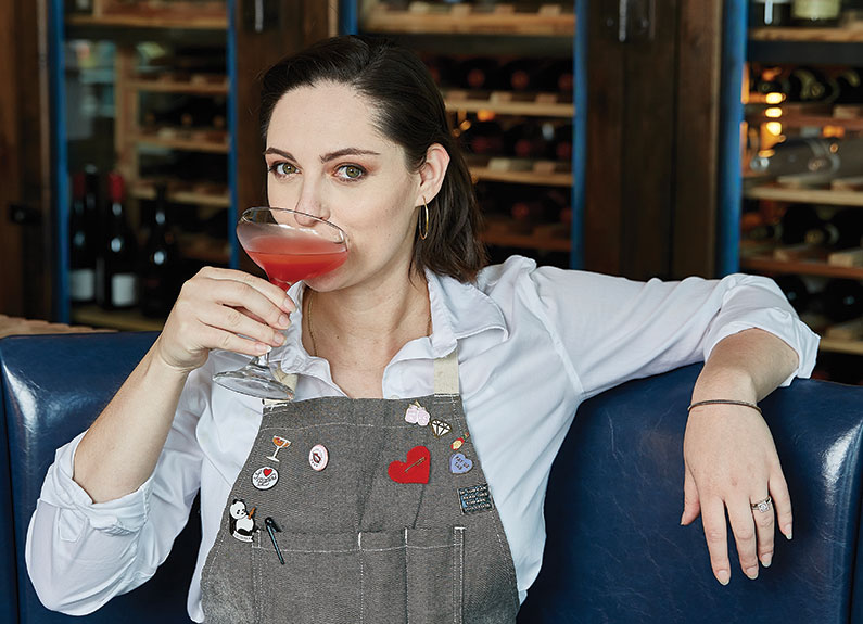 2020 readers' choice bartender of the year,  olive + oak's morgaine segura