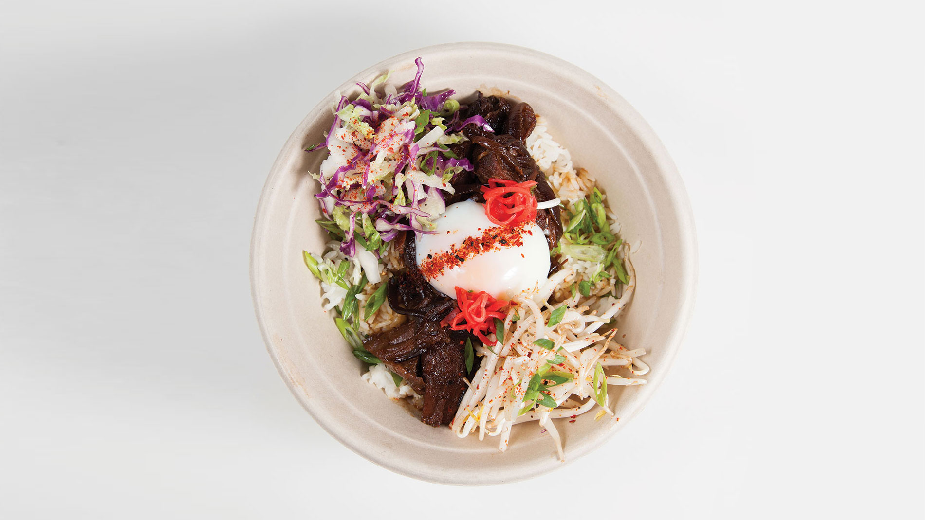 gyudon braised missouri beef knuckle rice bowl from field to fire, formerly kitchen kulture in st. louis