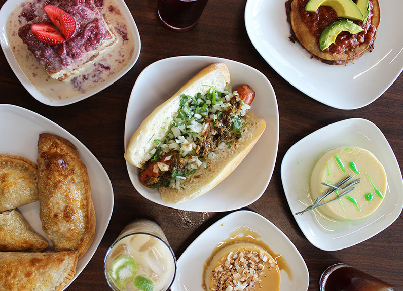 an array of dishes from coffeestamp in St. Louis, Missouri