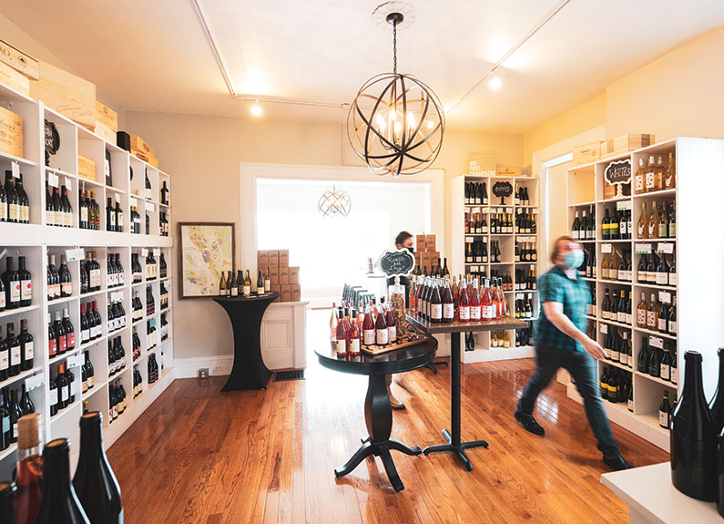 cork & rind wine shop in st. charles