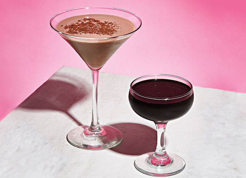 cocktails from baileys' chocolate bar in lafayette square in st. louis