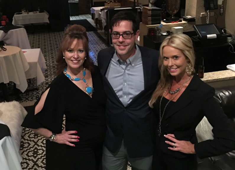 from left, owner brigitte mineo with her brother and sister, general manager michael clark, and marketing manager elizabeth wolf