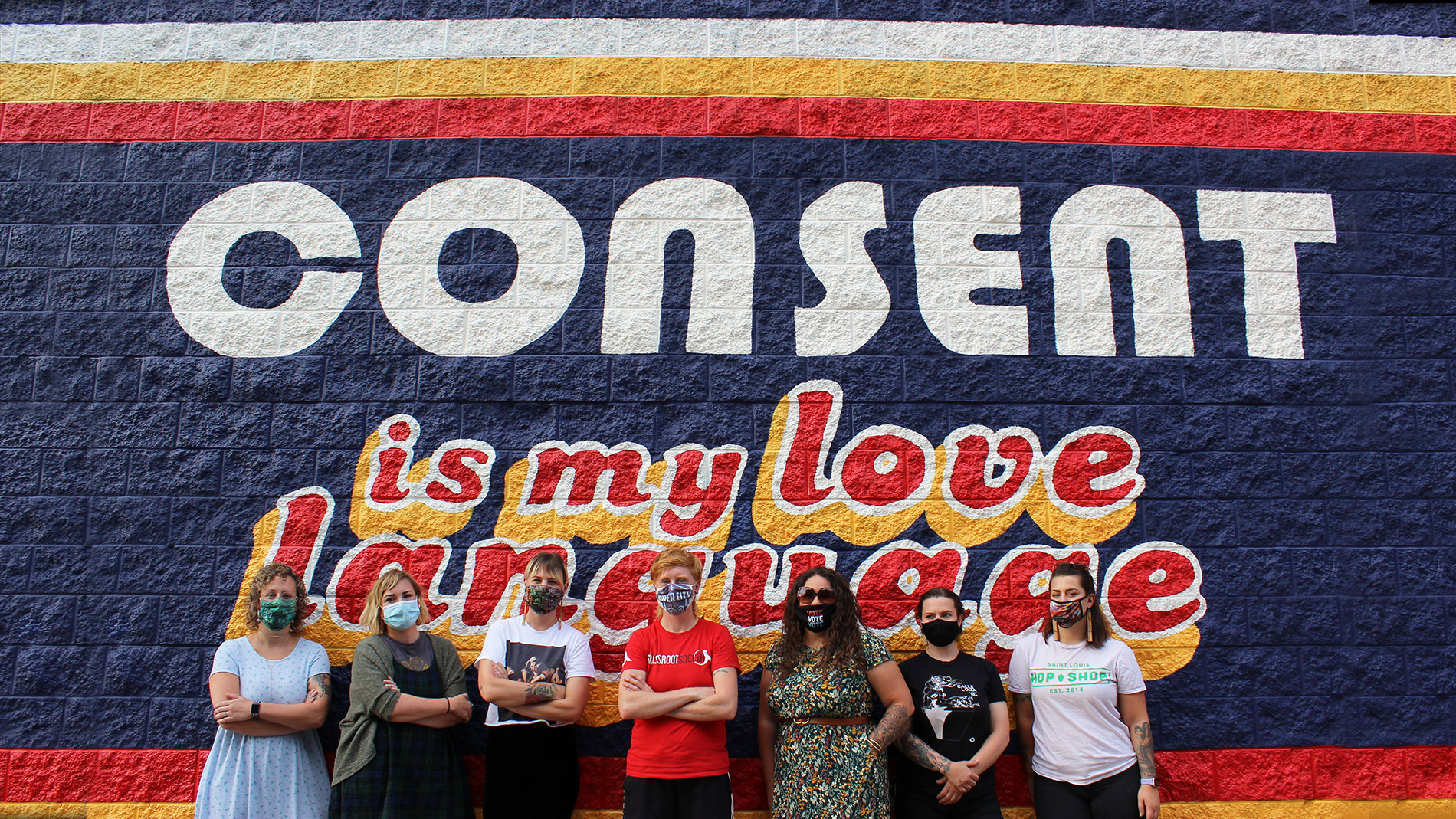 consent is my love language mural