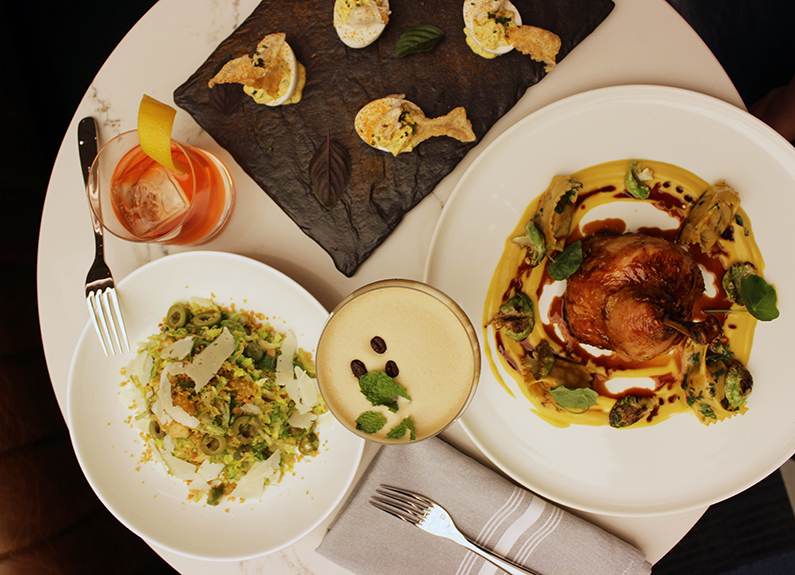a selection of dishes at cafe la vie in Clayton Missouri