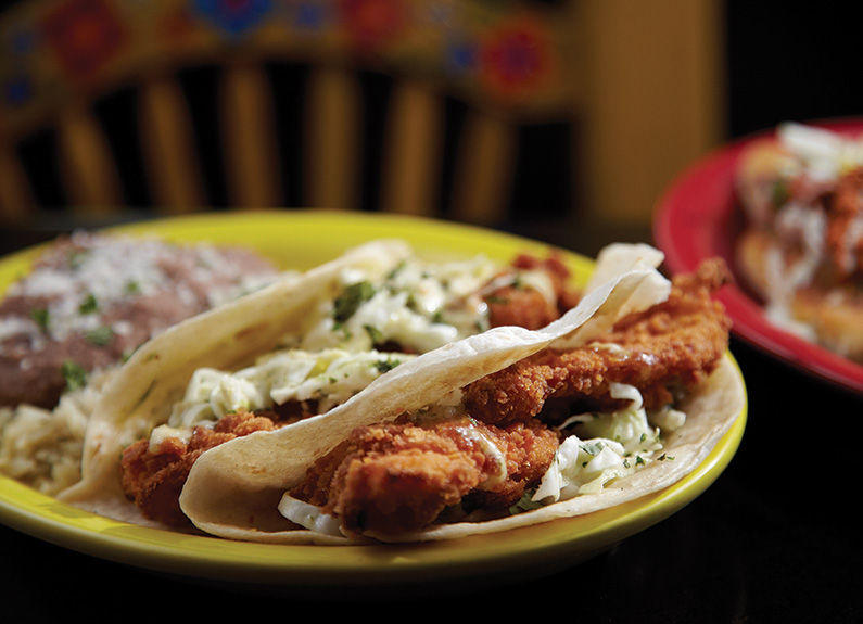 baja fish tacos from diablito's cantina in st. louis