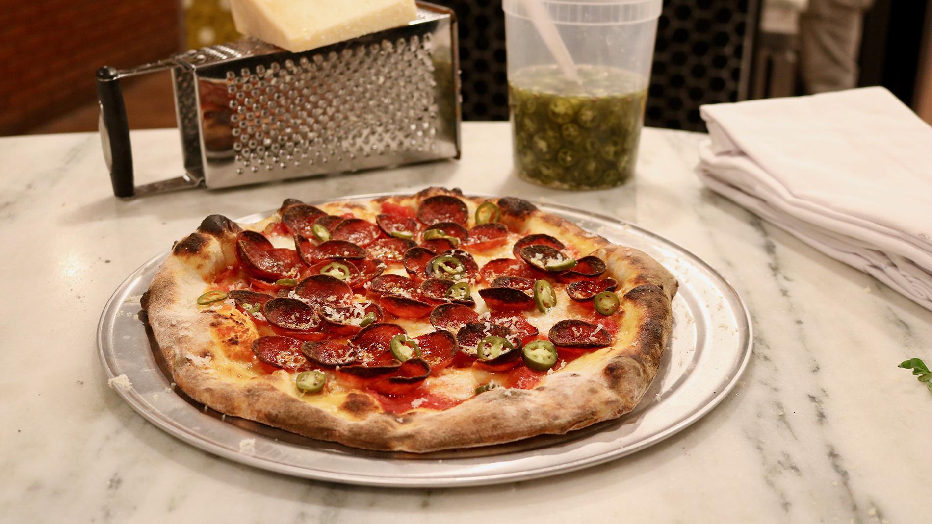 pepperoni pizza from pizzeria da gloria in st. louis