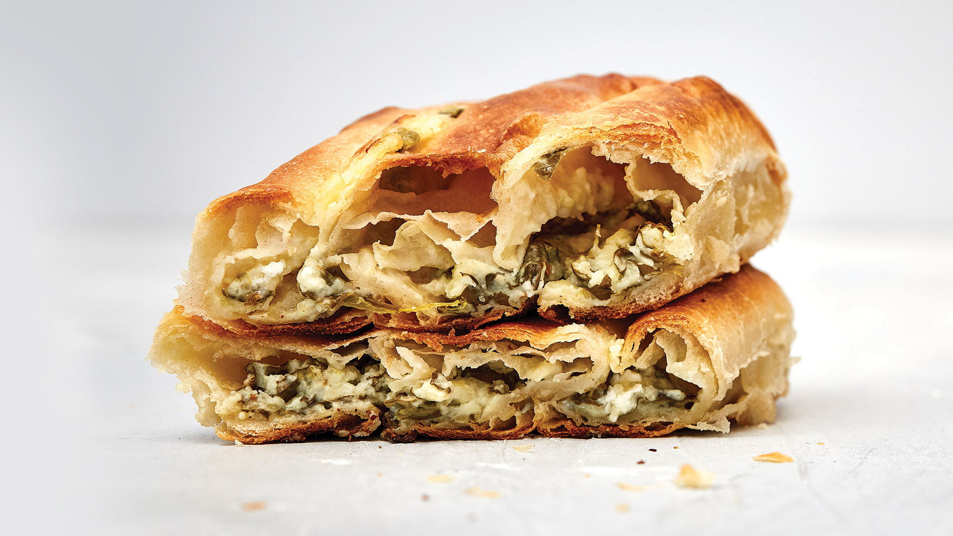 Eat this spinach and cheese pie from J's Pitaria​