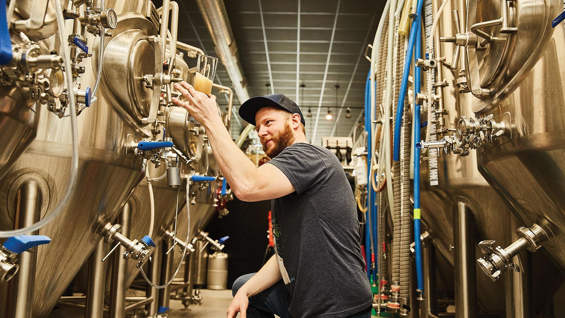 kyle kohlmorgen, head brewer at wellspent brewing co. in st. louis