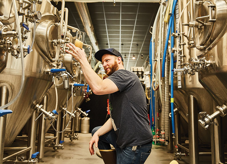 kyle kohlmorgen, head brewer at wellspent brewing co. in st. louis