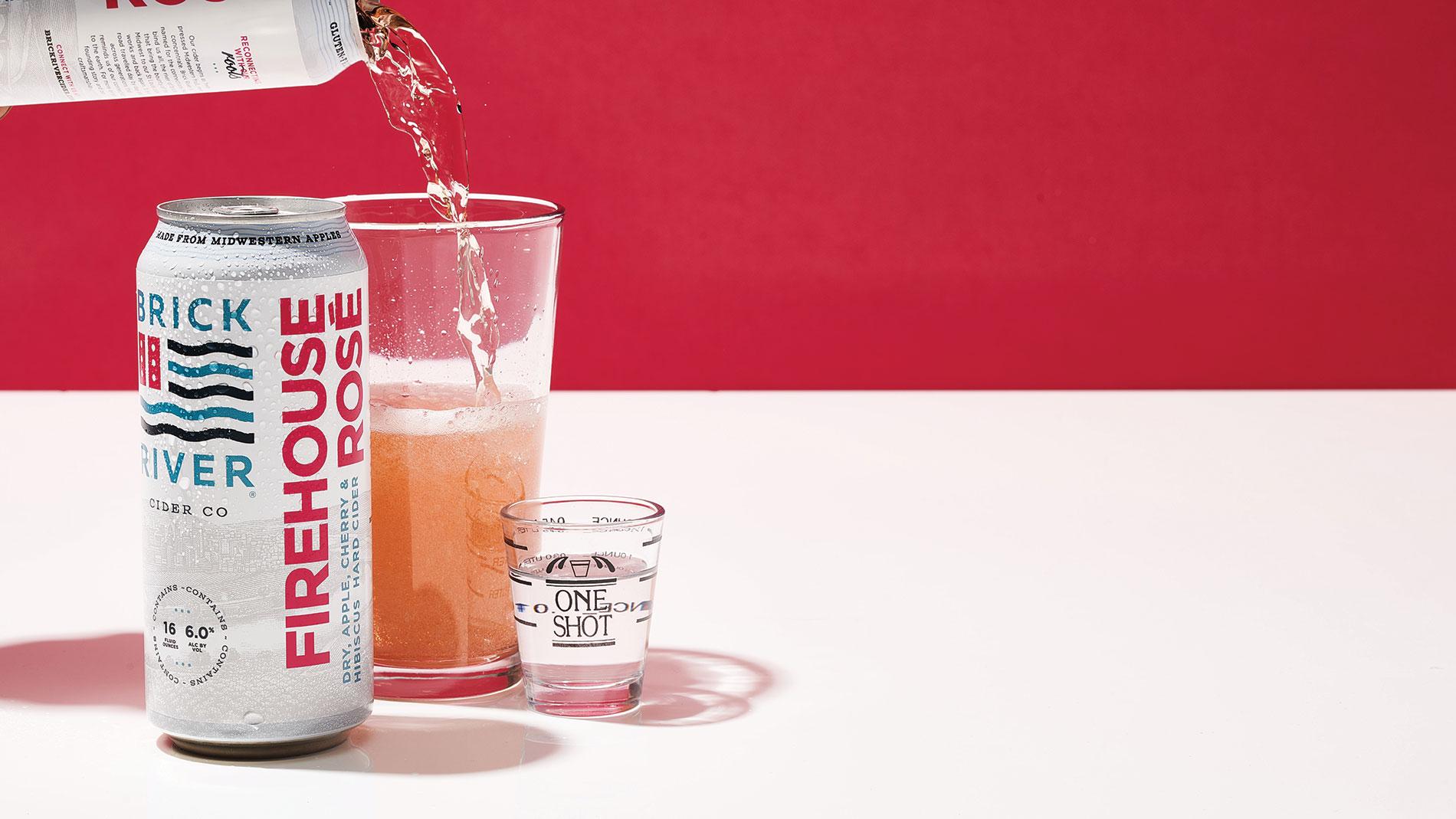 Brick River Cider Co. Firehouse Rose + Pinckney Bend Distillery Handcrafted Gin