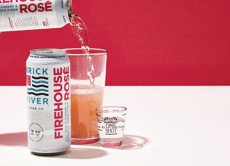 Brick River Cider Co. Firehouse Rose + Pinckney Bend Distillery Handcrafted Gin