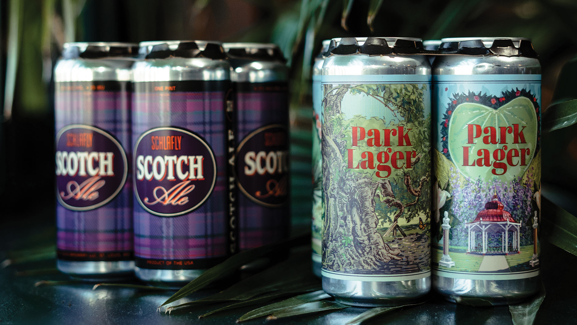 schlafly's scotch ale and park lager