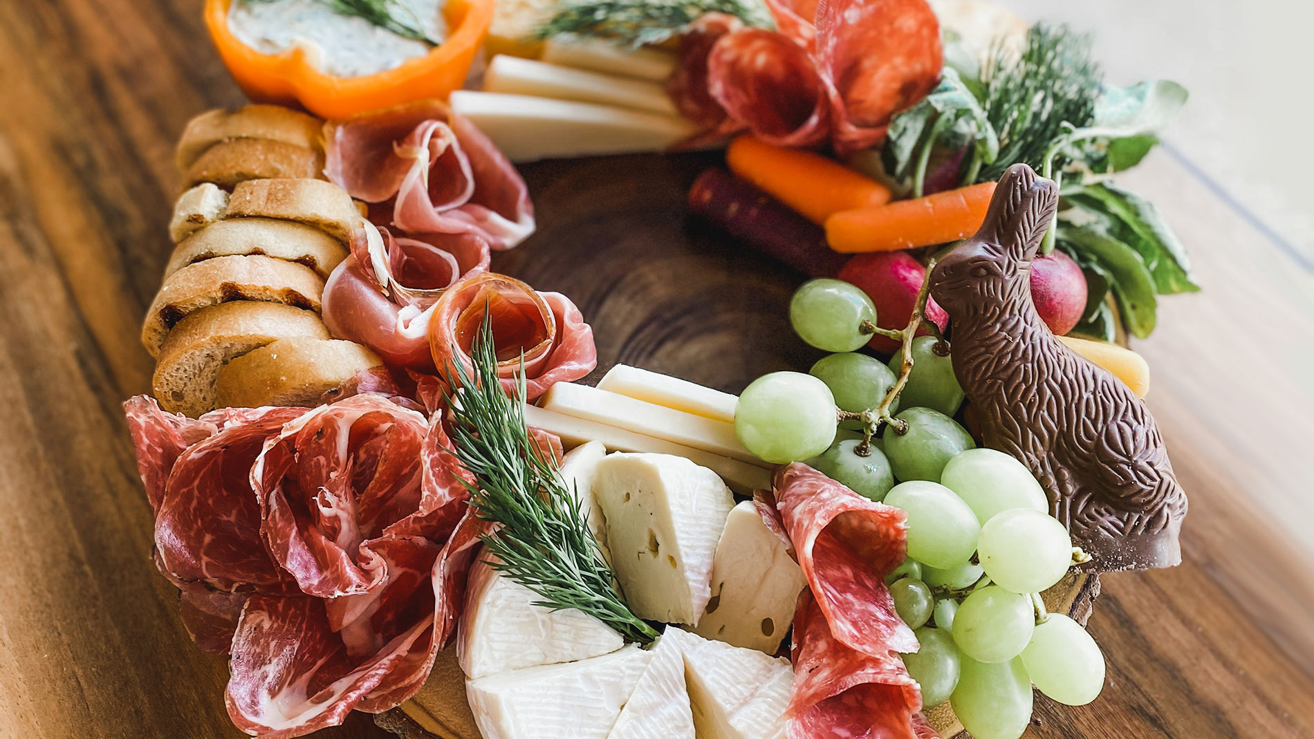 easter charcuterie board from volpi in st. louis