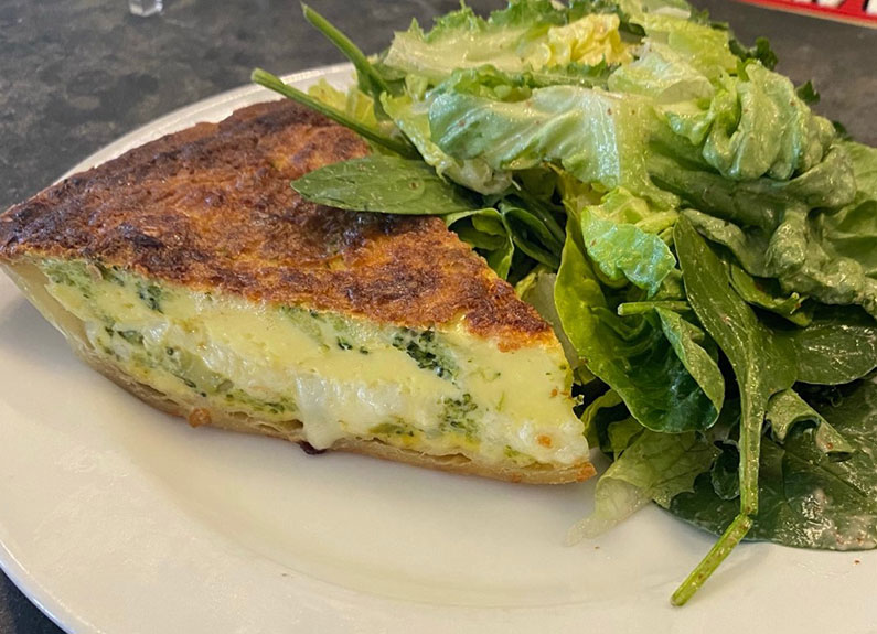 veggie quiche at avenue in clayton
