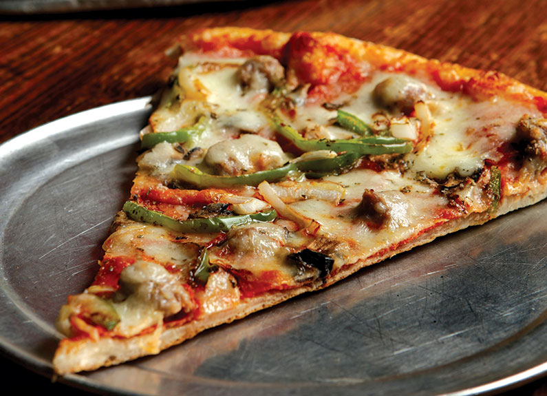 Manhattan-style pizza at A'mis in Rock Hill